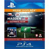 1050 Madden NFL 18 Ultimate Team Points - PS4 CZ Digital (SCEE-XX-S0032228)