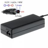 Akyga notebook power adapter AK-ND-07 19.5V/4.62A 90W 7.4x5.0 mm   pin DELL