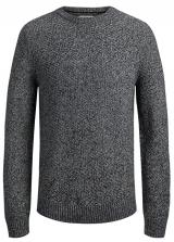 Jack&Jones Pánský svetr Jordale Knit Crew Neck Light Grey Melange Knit Fit M
