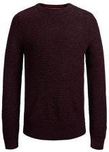 Jack&Jones Pánský svetr Jordale Knit Crew Neck Port Royale Knit Fit XL