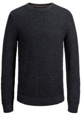 Jack&Jones Pánský svetr Jordale Knit Crew Neck Total Eclipse Knit Fit S