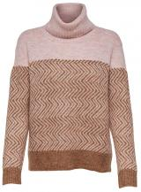 ONLY Dámský svetr New Mara L/S Rollneck Pullover Knt Indian Tan S