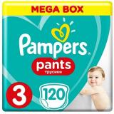 PAMPERS Pants Midi vel. 3 (120 ks) - Mega Box (4015400697527)