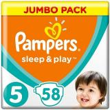 PAMPERS Sleep&Play Junior vel. 5 (58 ks) - Jumbo Pack (4015400203582)