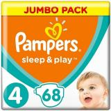 PAMPERS Sleep&Play Maxi vel. 4 (68 ks) - Jumbo Pack (4015400203551)