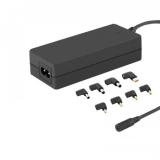Qoltec Universal power adapter 65W | 8 plugins |  power cable