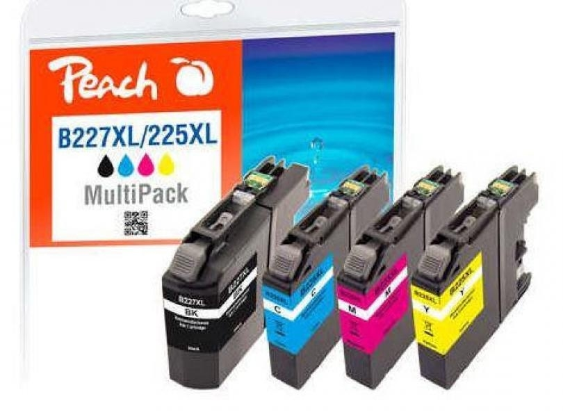 Produkt Ink PEACH PI500-140 Brother LC-227XL/ LC-225XL MultiPack| bk, c, m, y