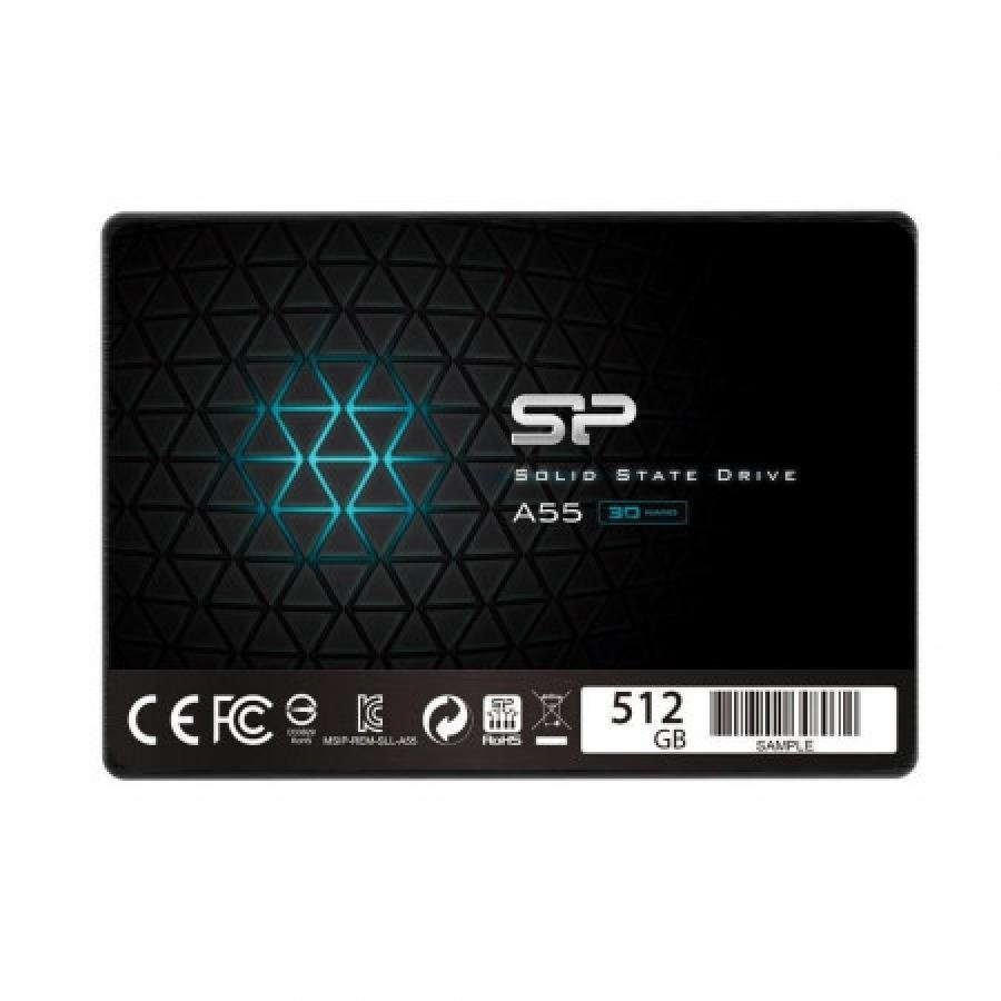 Produkt Silicon Power SSD Ace A55 512GB 2.5', SATA III 6GB/s, 560/530 MB/s, 3D NAND