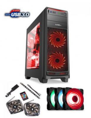 1stCOOL skříň GAMER 1, Full Tower, AU, USB 3.0   Set FAN1, bez zdroje, Black, ML-GAMER1-AU-USB3-F1