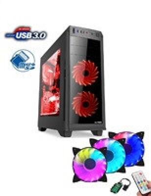 1stCOOL skříň GAMER 2, Full Tower, AU, USB 3.0, čtečka karet   Set FAN2, bez zdroje, Black, ML-GAMER2-AU-USB3-CR-F2