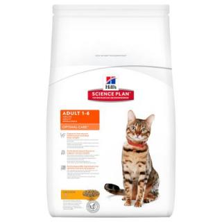 8 / 10 kg Hills Science Plan   12 x 85 g Hills kapsičky zdarma! - Young Adult Sterilised Cat Chicken (8 kg)