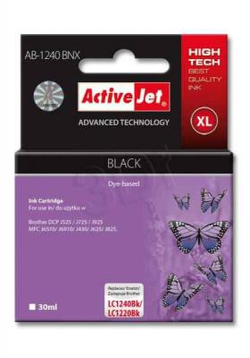 ActiveJet ink cartr. Brother LC-1240Bk - 30 ml - 100% NEW AB-1240BNX, EXPACJABR0029