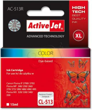 ActiveJet ink cartr. Canon CL-513 ref. - 15 ml - AC-513R, EXPACJACA0113