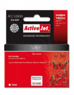 ActiveJet ink cartr. Canon CLI-526GY - 10 ml - 100% NEW (WITH CHIP)     ACC-526GN, EXPACJACA0111