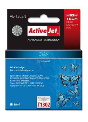 ActiveJet ink cartr. Eps T1302 Cyan 100% NEW - 18 ml     AE-1302N, EXPACJAEP0208