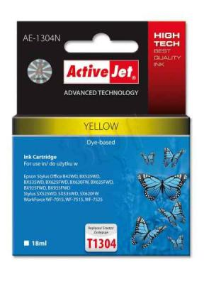 ActiveJet ink cartr. Eps T1304 Yellow 100% NEW - 18 ml     AE-1304N, EXPACJAEP0210