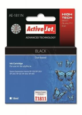 ActiveJet ink cartr. Eps T1801/T1811 Black 100% NEW - 18 ml    AE-1811N, EXPACJAEP0229