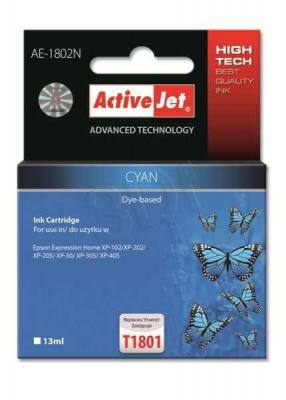ActiveJet ink cartr. Eps T1802/T1812 Cyan 100% NEW - 13 ml     AE-1812N, EXPACJAEP0230