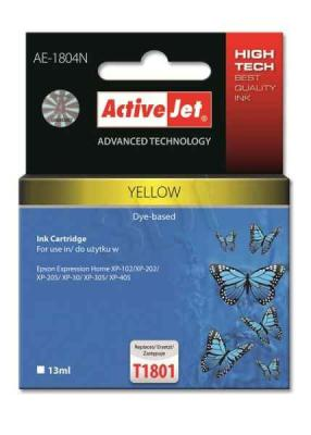 ActiveJet ink cartr. Eps T1804 Yellow 100% NEW - 13 ml     AE-1804N, EXPACJAEP0232