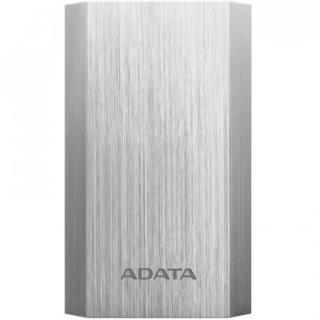 ADATA A10050 Power Bank 10050mAh, Typ A USB, stříbrná