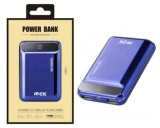Aligator Power Bank PLUS K3632 s 2USB, 10000mA, modrá, 0251115