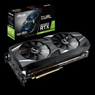 ASUS GeForce DUAL RTX 2070, 8GB GDDR6, 3x DP, HDMI, USB-C
