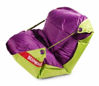 BeanBag 189x140 duo limet - purple
