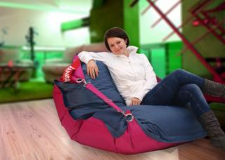 BeanBag 189x140 duo pink - jeans