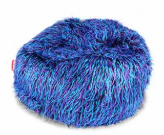 BeanBag Shaggy Multicolor blue-black-purple