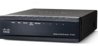 Cisco RV042, 2x 10/100 WAN, 4x 10/100 LAN VPN Router REFRESH, RV042-EU-RF