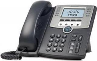 Cisco SPA509G IP Phone, 12 Voice Lines, 2x 10/100 Ports, High-Resolution Graphical Display, PoE Support REFRESH, SPA509G-RF