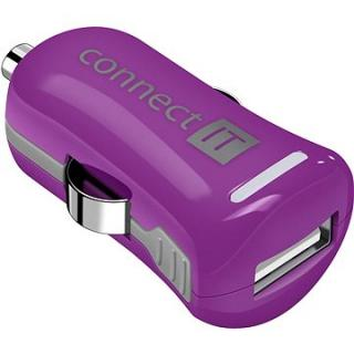 CONNECT IT InCarz Charger ONE 2.1A fialová
