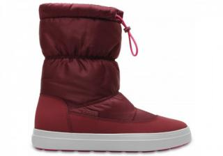 Crocs LodgePoint Shiny Pull-On 36-37 / Garnet/Candy Pink
