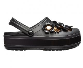 Crocs Pantofle CB Platform Metallic Blooms Clg/Black 205700-001 41-42