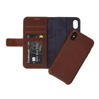 Decoded Leather 2in1 Wallet Case Brown iPhone XS/X (D8IPOXWC7CBN)
