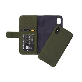Decoded Leather 2in1 Wallet Case Green iPhone X (D8IPOXWC7ON)