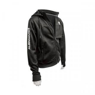 DELL Alienware Poly-Tech Hoodie black - XL/ mikina s kapucí