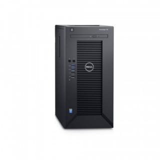 Dell PowerEdge T30 E3-1225 v5/16GB/2x1TB SATA/RAID 1/DVDRW/3xGLAN/290W/3RNBD/Černý, T30-1621S-3PS