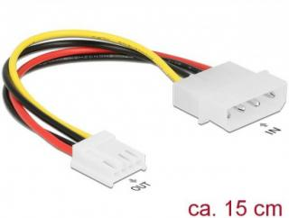 Delock Cable Power 4 pin male > 4 pin floppy female 15 cm