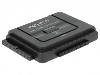 Delock Converter USB 3.0 to SATA 6 Gb/s / IDE 40 pin / IDE 44 pin with backup function, 61486