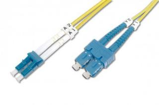 Digitus Fiber Optic Patch Cord SC , Singlemode 09/125 µ, Duplex Length 3 m, DK-292SCA3LC-03