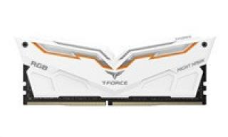 DIMM DDR4 16GB 3000MHz, CL16, (KIT 2x8GB), TEAM T-FORCE Night Hawk RGB (White)