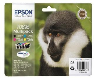 EPSON cartridge T0895 (black/cyan/magenta/yellow) multipack (opice)