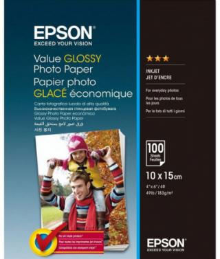 EPSON paper 10x15 - 183g/m2 - 100 sheets - value glossy photo paper, C13S400039