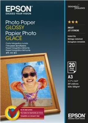 EPSON Photo Paper Glossy A3 20 listů, C13S042536