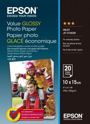 EPSON Value Glossy Photo Paper 10x15cm 20 sheet, C13S400037