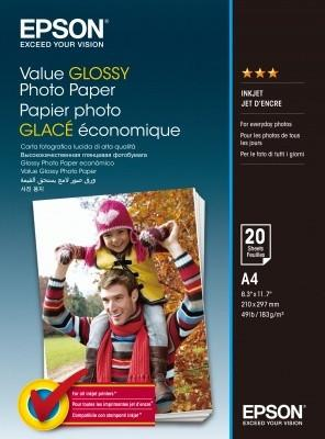 EPSON Value Glossy Photo Paper A4 20 sheet, C13S400035