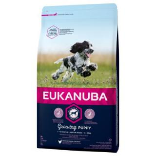 Eukanuba Growing Puppy Medium Breed Kuřecí - 15 kg