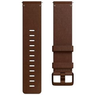 Fitbit Versa Accessory Band, Leather, Cognac, Small (FB166LBDBS)