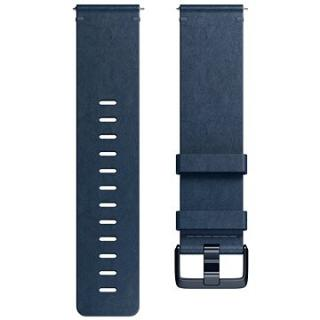 Fitbit Versa Accessory Band, Leather, Midnight Blue, Small (FB166LBNVS)